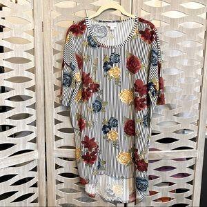 LuLaRoe Irma Stripes and Roses
